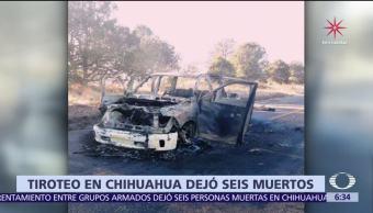 Enfrentamiento en Gómez Farías, Chihuahua, deja 6 muertos
