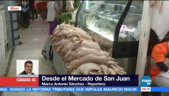 Mercado de San Juan, CDMX, oferta manjares de Navidad