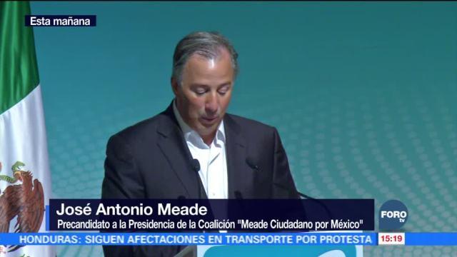 Meade se registra como precandidato de Nueva Alianza