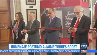 Rinden homenaje póstumo a Jaime Torres Bodet