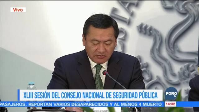 Inicia la cuadragésima tercera sesión del Consejo Nacional de Seguridad Pública