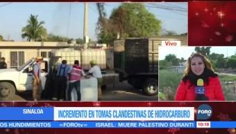 Incremento en tomas clandestinas de hidrocarburo en Sinaloa
