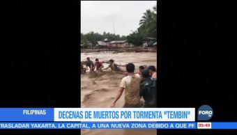 Más de 130 personas mueren por el paso de 'Tembin'