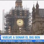 El Big Ben vuelve a sonar por Navidad y Año Nuevo