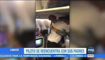 Piloto se reencuentra con sus padres tras mucho tiempo de no verlos