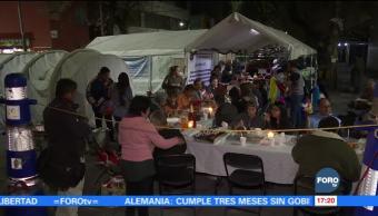 Habitantes afectados por el sismo en la Doctores celebran posada