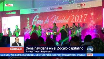 Sirven más de 12 mil cenas navideñas en el Zócalo capitalino