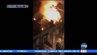 Se registra un incendio en edificio Canadá en la Ciudad de México