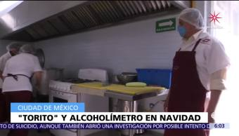 Detenidos en el 'Torito' de la CDMX degustan cena navideña