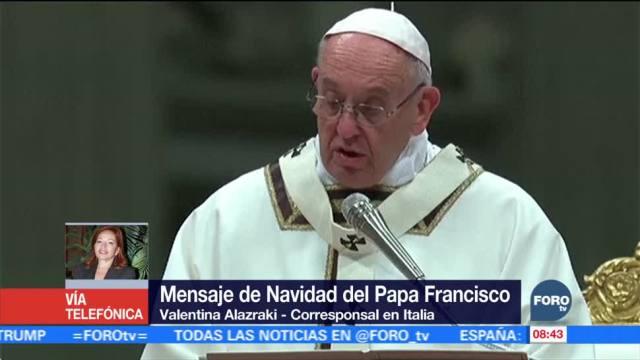 El papa da mensaje de Navidad y habla de Medio Oriente