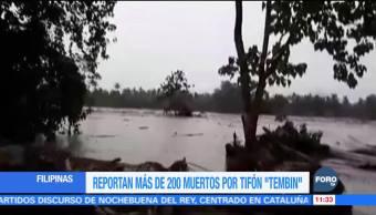 Más de 200 muertos en Filipinas por tifón Tembin