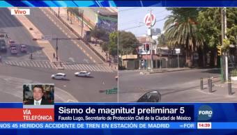 Sismo de magnitud 5 perceptible en algunas zonas de la CDMX