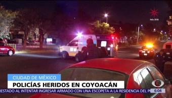 Dos policías resultan lesionados por riña en Coyoacán, CDMX