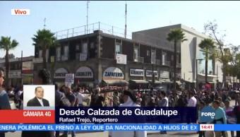 Padres de normalistas arriban a la Basílica de Guadalupe