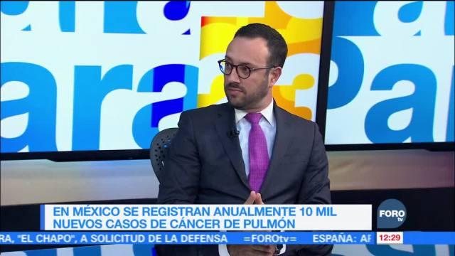 México registra 10 mil casos de cáncer de pulmón cada año