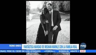 Meghan Markle pasó una Navidad 'fantástica' con la familia real británica