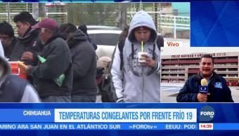 Temperaturas congelantes por frente frío en Chihuahua
