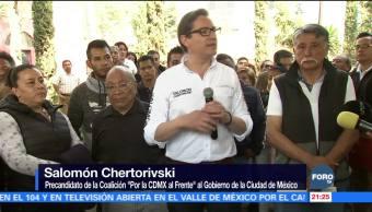 Chertorivski recorre Tepito y la Zona Rosa