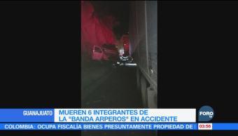 Mueren integrantes de la Banda Arperos en accidente carretero