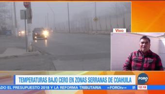 Persisten temperaturas bajo cero en zonas serranas de Coahuila