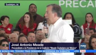 Aumentó la violencia en estados no gobernados por el PRI, asegura Meade