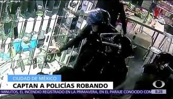 Abren carpetas de investigación contra policías por robo en Plaza Meave