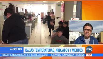 Zacatecas reporta un muerto por hipotermia ante los efectos del frente frío