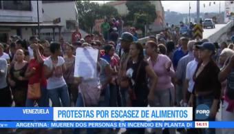 Protestan por falta de alimentos en Venezuela