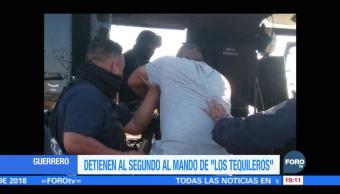 Detienen al segundo al mando de 'Los Tequileros'