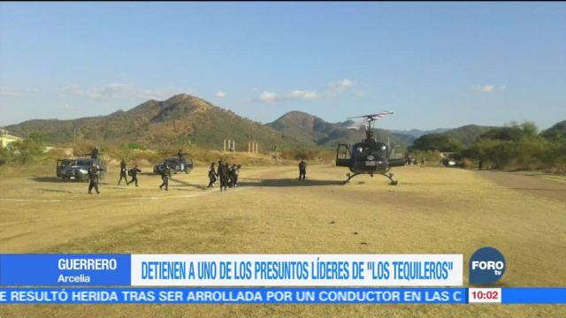 Capturan a líder de Los Tequileros en Guerrero