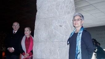 museo antropologia exhibe bajorrelieve xoc sustraido mexico 40 anos