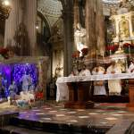Cientos de católicos acuden a Catedral para agradecer llegada del Niño Jesús