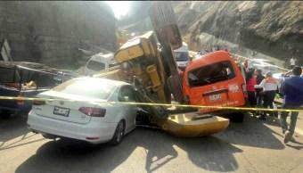 Alcalde de Huixquilucan confirma dos muertos en accidente con retroexcavadora