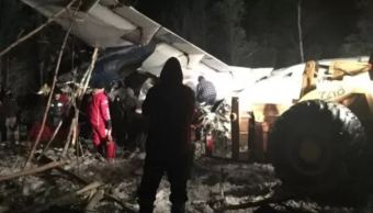 avion 25 personas bordo se estrella canada reportan heridos
