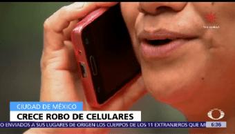 Aumenta 20% Robo Celulares Cdmx