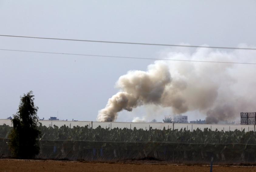 Israel bombardeó puestos de Hamás en Gaza tras el lanzamiento de proyectiles