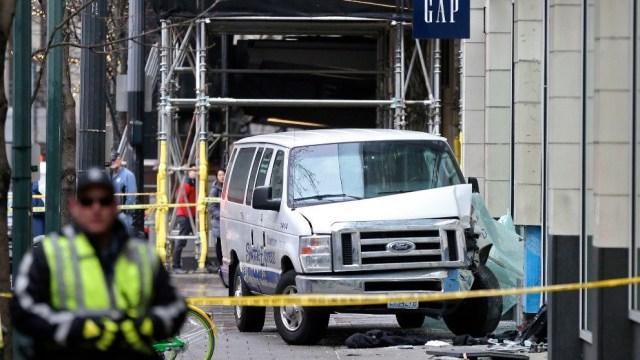 Camioneta arrolla varias personas centro Seattle