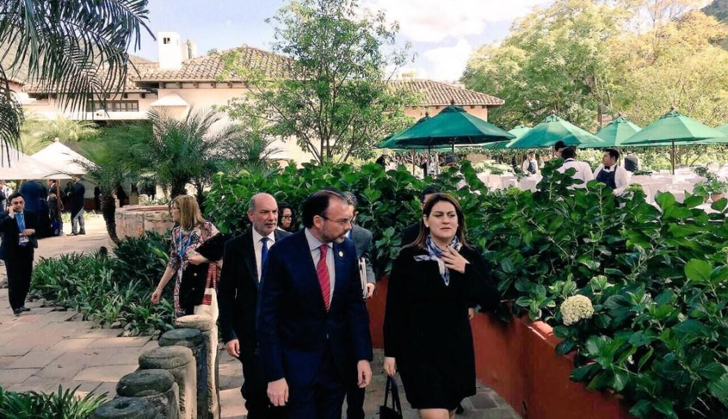 videgaray y canciller de honduras platican de elecciones
