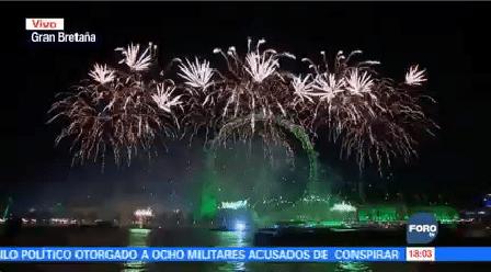 Celebran Llegada Año Nuevo Reino Unido