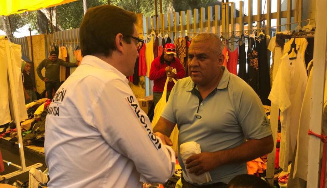 Chertorivski visita vecinos y comerciantes barrio Tepito