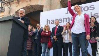 Sheinbaum López Obrador inician precampaña Tlalpan