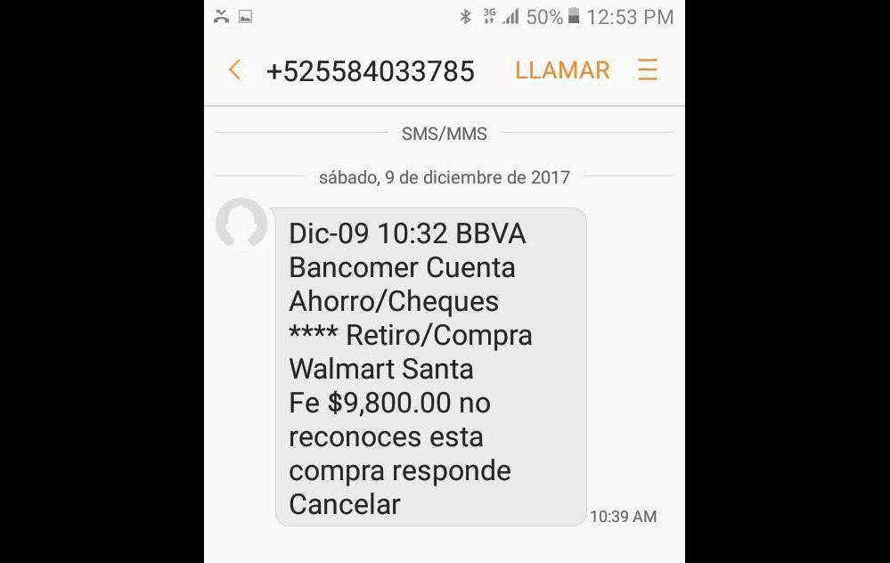 Alertan de phishing a clientes de BBVA