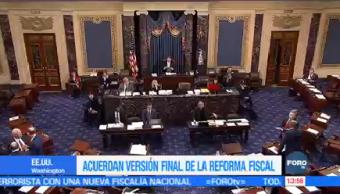 Congreso Estadounidense Detalla Versión Final Reforma Fiscal