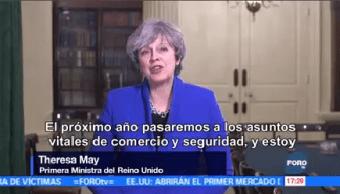 Crucial Brexit Sea Éxito Theresa May Mensaje De Fin De Año