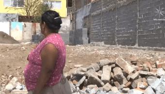 Damnificados del sismo en Oaxaca construyen sobre cimientos colapsados