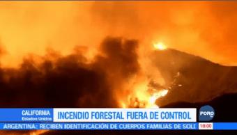 Declaran Estado Emergencia Incendio Forestal California