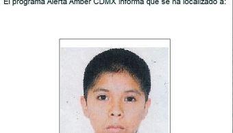 Desactivan Alerta Ámber para localizar a un menor extraviado en Tláhuac