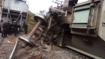 Tren de carga descarrila por falla mecánica de frenos en Veracruz