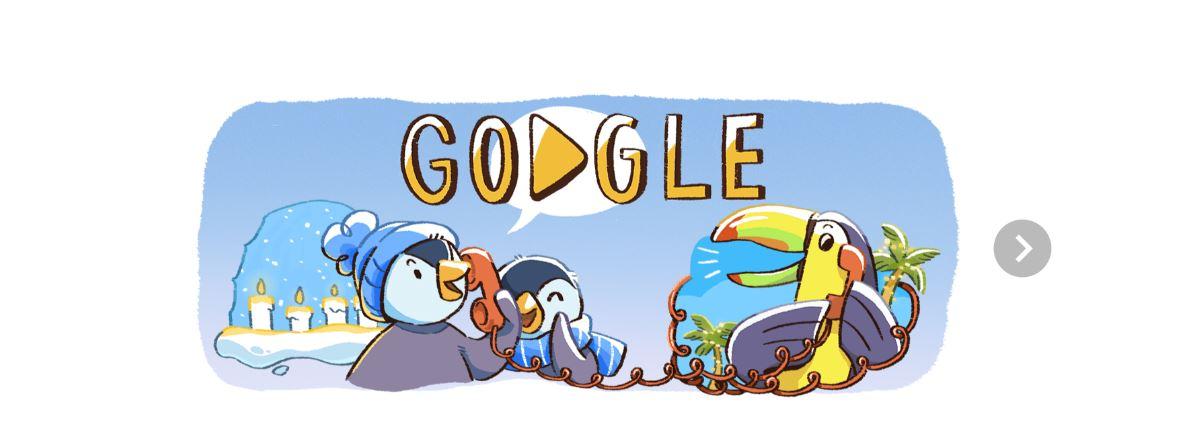 Google inicia los festejos navideños con doodle animado
