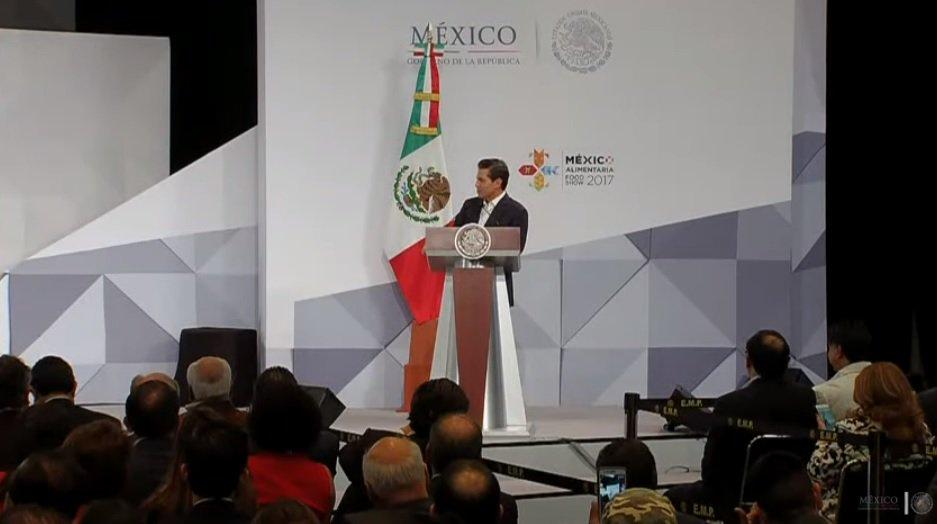 México entre los primeros en ventas de alimentos, afirma Peña Nieto